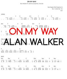 Play The Piano: ON MY WAY - Alan Walker ft. Sabrina Carpenter and ... E Major, Piano Cover, Alan Walker, Sabrina Carpenter, My Way, Play, Learning, Music, Studying