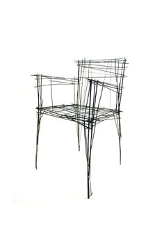 Drawing series chair 1 | South Korean designer Jinil Park has created a range of furniture from intersecting wires that has the appearance of a two-dimensional sketch. (via dezeen.com)