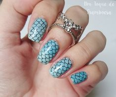 Mermaid nail art inspired and tutorial | Unhas inspiradas sereia