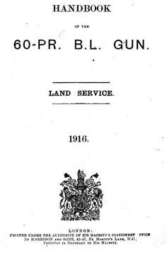 WW1 heavy artillery manual