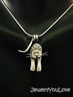 Collar de gato de plata esterlina - Cosmos