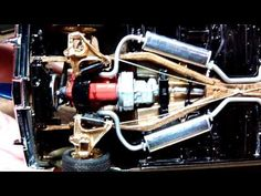 Lowrider model car 1959 Impala complete. Telescopic cylinders. - YouTube