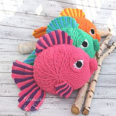 """Ravelry: """"Gus"""" the Goldfish Pillow Buddy pattern by Accessorize This Designs"""