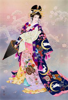 Tsukiuagi Painting by Haruyo Morita