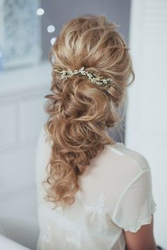 Bridal Head PIece Twig Bridal Hair PIece Bridal Headpiece Bridal Hair Comb Bridal HairComb / http://www.deerpearlflowers.com/wedding-hairstyle-with-bridal-headpieces/