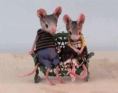 Animated Gif by Needle Felted Animals, Felt Animals, Needle Felting, Cute Animals, Felt Mouse, Baby Mouse, Cute Mouse, Maus Illustration, Dibujo