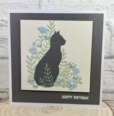 Birthday card made using the Sizzix Meadow Cat die set, www.glitterangel.typepad.om #sizzix #sizzixlifestyle #sizzixdies #catlover #cardmaking