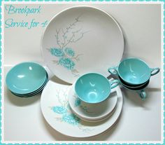 Vintage BROOKPARK Melmac Svc for 4 by GrammysGoodys on Etsy, $39.00