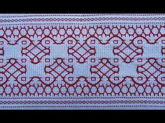 Esse bordado pode ser feito em qualquer tecido, mas fica muito bonito feito em tecido de fios contáveis desfiados ou não. Como por exemplo etamine, cânhamo f...