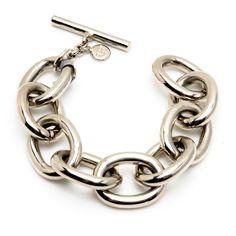 Silver metal chain link bracelet