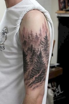 Ideas pine tree tattoo arm forests tatoo for 2019 - 24 Ideas pine tree tattoo arm forests tatoo for 2019 Ideas pine tree tattoo arm forests tatoo for 2019 - 24 Ideas pine tree tattoo arm forests tatoo for 2019 - Tattoo Trends - Tattoo designs - Pine Tattoo, Tree Tattoo Arm, Forearm Tattoos, Back Tattoo, Body Art Tattoos, Tattoo Art, Tree Tattoos, Tattoo Drawings, Mountain Sleeve Tattoo