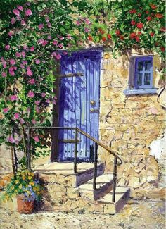 I love blue doors -Terry Harrison