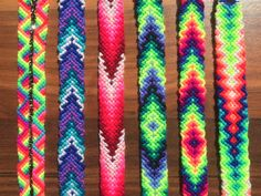 This listing is for ONE knotted Friendship Bracelet 100% handmade. The beautiful hand woven bracelets are made with bright and vivid colors. Mercerized polyester and cotton threads give them shiny, silky appearance. - Wide 2/3+ = 18mm+ - Adjustable - Handmade - Pattern size 6+= 15cm+ TO MAKE YOUR CHOICE: COUNT from the left to the right ON THE FIRST PHOTO. Inform number of the bracelet. Payment PayPal only. Indicate the payment for POPLARA Shipping All items will be shippe...