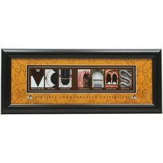VCU Rams 8'' x 20'' Framed Letter Art