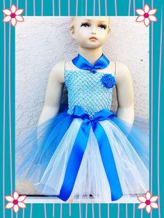 Cinderella royal/white  Crochet top and  Tutu dress SZ by TUTUCUTS, $25.99