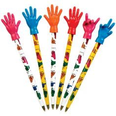 Handy Pen - Hands down the best pen you'll ever own! Bendable hand topper on each pen. #pens