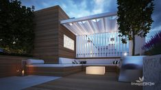 Ogrod na dachu z altana