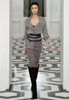Victoria Beckam Fall...high boots with skirts and lots of layers