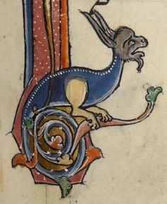 """Detail from """"The Rutland Psalter"""", medieval (c1260), British Library Add MS 62925. f 100r"""
