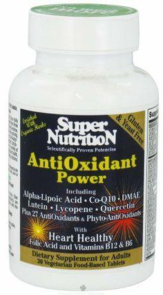 AntiOxidant Power - 30 - Tablet by Super Nutrition. Save 35 Off!. $21.52. AntiOxidant Power by Super Nutrition 30 Tablet AntiOxidant Power World s most protective antioxidant anti-aging formula 100 mg alpha-Lipoic acid 100 mg DMAE 30 mg CoQ10 75 mg n-acet