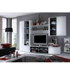 meuble tv mural design lumineux oriana | meuble tv | pinterest ... - Meuble Tele Mural Design