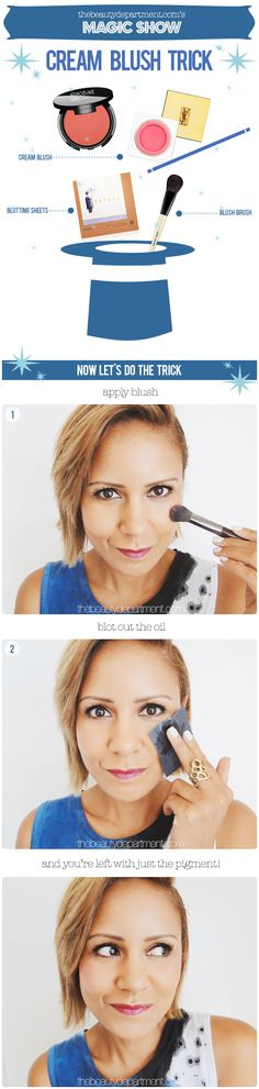 Cream blush: How to! #beauty #makeup