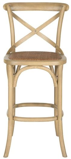 Safavieh AMH9502 Franklin Bar Stool Weathered Oak Furniture Seating Bar Stools #OakFurniture