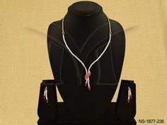 NS-1877-236 || KNOT STYLE WRAPPED AD NECKLACE SET
