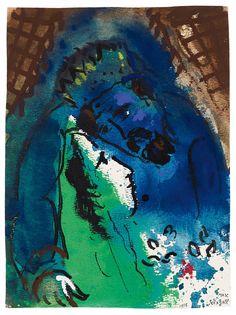 Marc Chagall Vitebsk 1887 - 1985 Vence Les Amoureux IV (Roi David) 1955