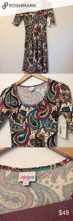 LuLaRoe • Nicole Paisley Print Dress NWT LuLaRoe Nicole Dress - gorgeous paisley print. No flaws to note. LuLaRoe Dresses
