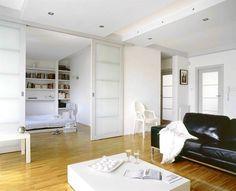 drzwi dwuskrzydłowe wewnętrzne - Wnętrza - forum.muratordom.pl Wall Shelves, Small Spaces, Sweet Home, Windows, Doors, Mirror, Cool Stuff, Studio, House