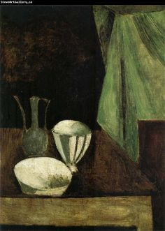 Andre Derain The Still life having a small winebottle