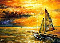 0648  Sailing To The Future - New Print by Leonid Afremov