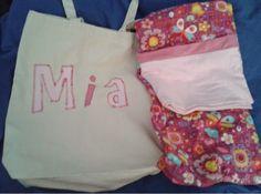 Edogg Sugarlips and Princess Buttercup: Happy birthday Mia. Canvas bag and matching pillowcase