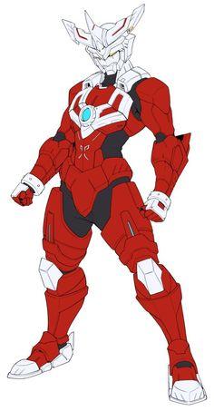 Robot gundum armor red knight
