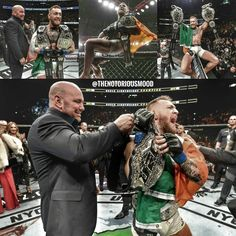 """2,190 Likes, 6 Comments - Cᴏɴᴏʀ MᴄGʀᴇɢᴏʀ (@thenotoriousmood) on Instagram: """"One year ago : McGregor with 2 belts """""""