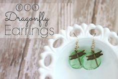 PitterAndGlink: {DIY Dragonfly Earrings}