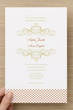 white and gold wedding invitation vistaprint