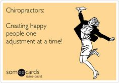 your chiropractor make you happy? We hope so!Does your chiropractor make you happy? We hope so! Chiropractic Humor, Chiropractic Therapy, Chiropractic Office, Family Chiropractic, Chiropractic Center, Public Health Career, Health Activities, Wellness Fitness, Wellness Quotes