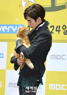 Yoo Seung Ho & the best co-star for him (&& us!!) :3 <3 #ImaginaryCat #KDoramas
