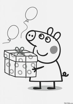 Peppa Pig Para Colorear Cumpleanos Peppa Pig can be a British preschool lively television system Peppa Pig Coloring Pages, Coloring Pages For Kids, Birthday Coloring Pages, Peppa Pig Drawing, Peppa Pig Gifts, Peppa Pig Wallpaper, Papa Pig, Frozen Coloring, Pig Crafts