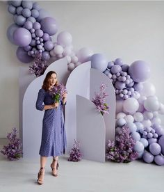 There is nothing ordinary about this gorgeous lilac hues setup💜💜 . Baby Balloon, Balloon Wall, Balloon Garland, Balloon Arch, Balloon Decorations Party, Outdoor Wedding Decorations, Birthday Party Decorations, Baby Shower Decorations, Lilac Baby Shower