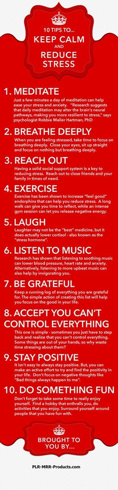 10 tips to keep calm reduce stress. Just a few minutes a day of meditation can help ease your stress anxiety. Research suggests that daily meditation may alter the brains neural pathways, making you more resilient to stress, says psyc Stress Less, Reduce Stress, Stress Free, Stress Management, Health Tips, Health And Wellness, Mental Health, Health Anxiety, Anxiety Help