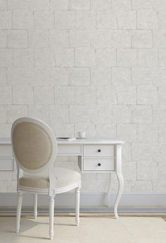Welcome to Magma Wallcovering. We source and supply beautiful, high-end wallpapers and wall coverings for home and commercial use. White Wallpaper, Dark Colors, Accent Colors, Interior Styling, Vanity, Ivory, Wall Decor, Chair, Pastels