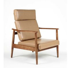 Aalborg High Back Chair In Brown