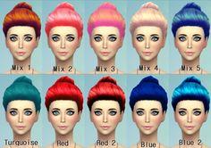 22 Non-default Hair Recolors at Darkiie Sims4 via Sims 4 Updates