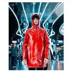 Stutterheim Stockholm Opal red raincoat