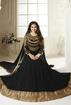 Black Designer Party Wear Suit - Desi Royale