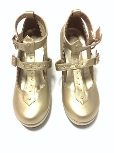 Milky Cross Shoes in Gold from Angelic Pretty (S size) - Lolita Desu