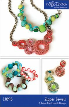 Zipper Jewels – IJ895 craft pattern from IndygoJunction.com